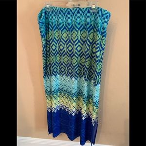 Chico's Turquoise Maxi Skirt